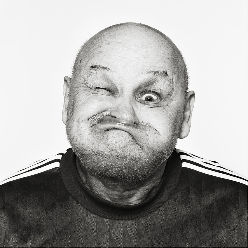 Gurning, Gurners, world championship, black and white, silverprint, dis, medium format,  black and white, photography, fine art, pulling faces, ugly, black and white, bw,