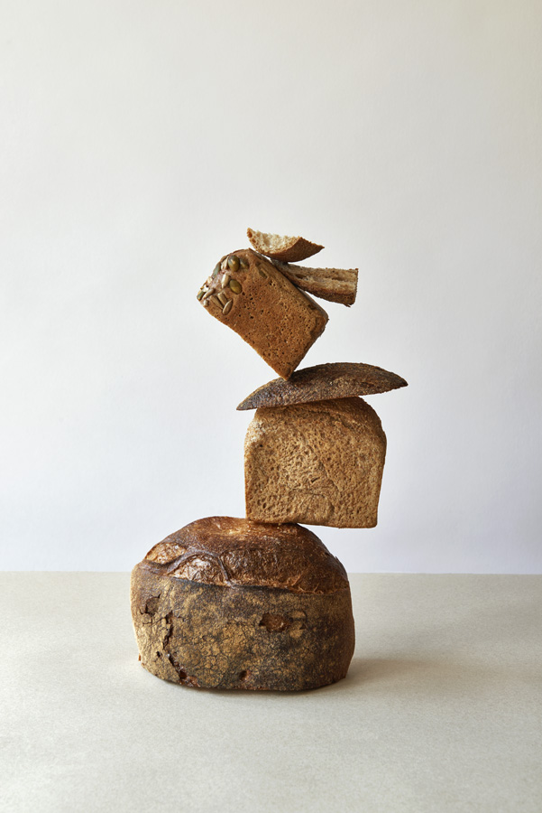 Bread, Toast, Henge, Ancient, Sculpture, Photography, Studio, Natural light, background, neutral, sandy,